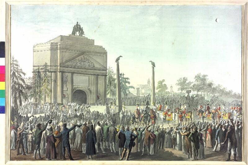 Feierlicher Einzug von Kaiser Franz I. in Wien 1814