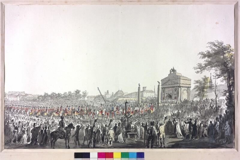 Feierlicher Einzug von  Kaiser Franz I. in Wien am 16. 6. 1814