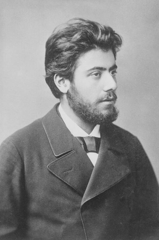 Gustav Mahler, 1881©Bildarchiv Austria, ÖNB