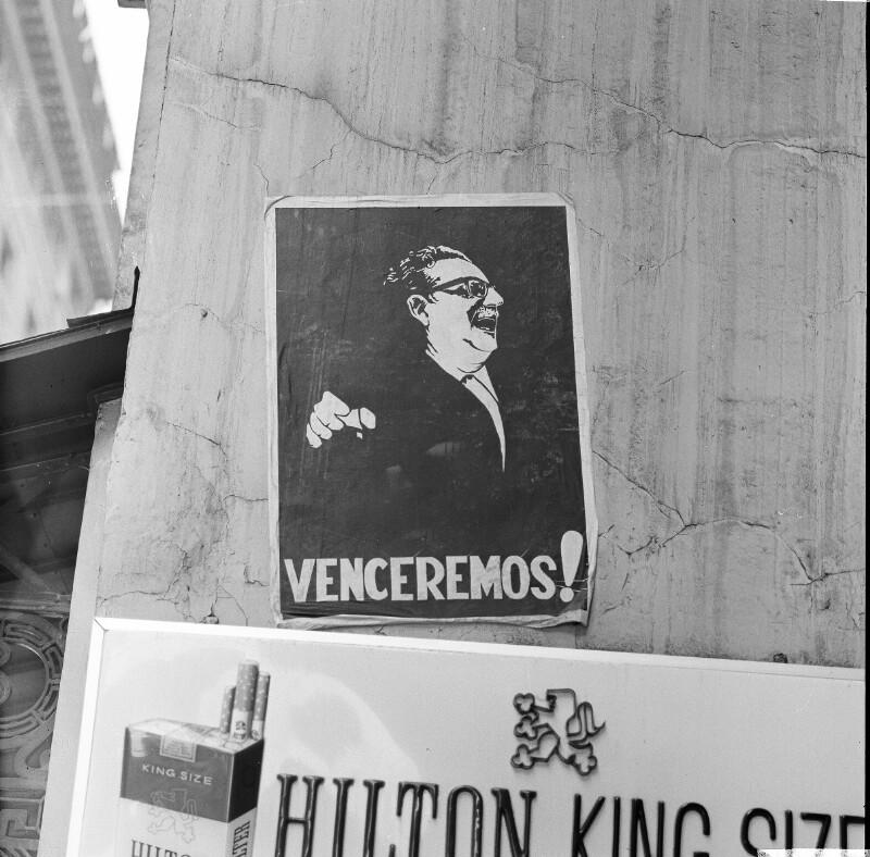 Allende's Wahlplakat in Santiago de Chile