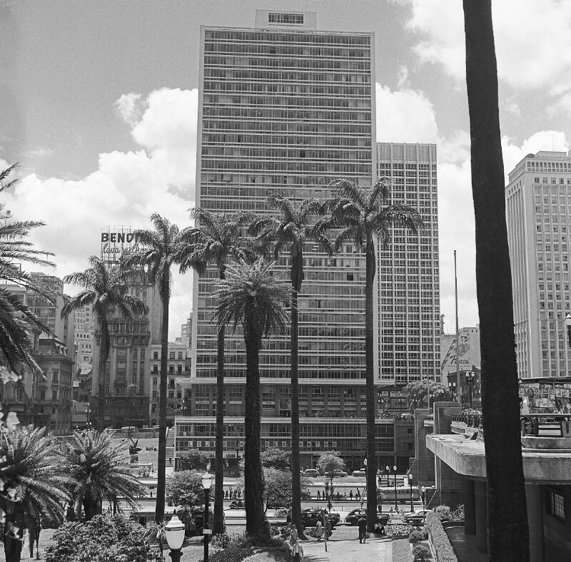 Blick auf das Anhangabaú in São Paulo