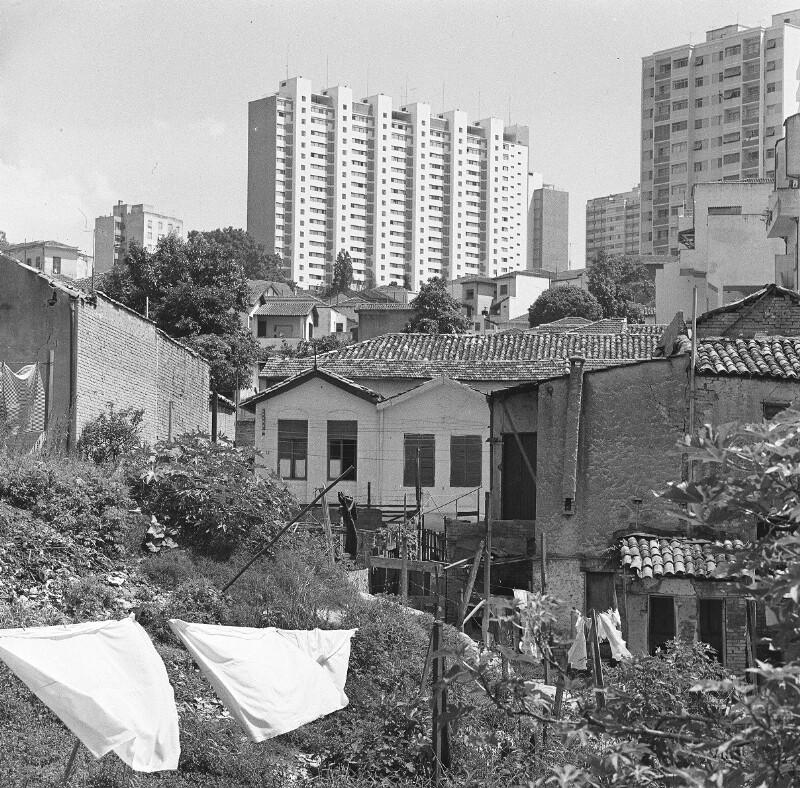 Architektonisches Durcheinander im Wohnbezirk Bela Vista