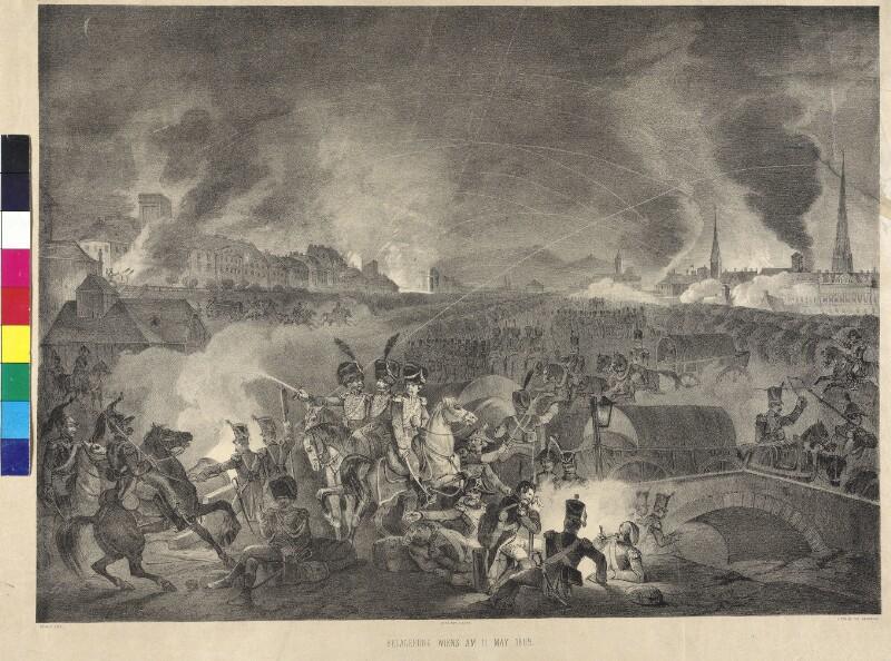 Nächtliches Bombardement Wiens durch die Franzosen