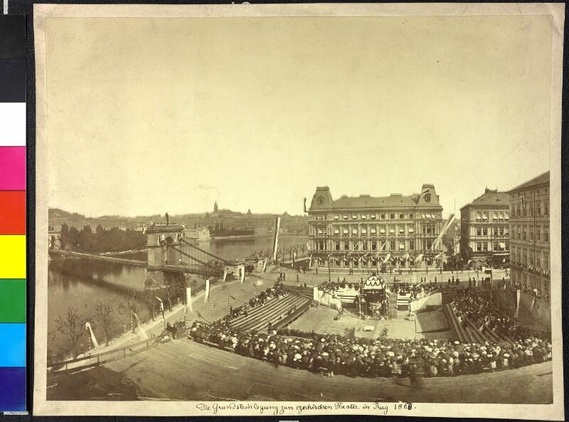 Grundsteinlegung zum Nationaltheater in Prag