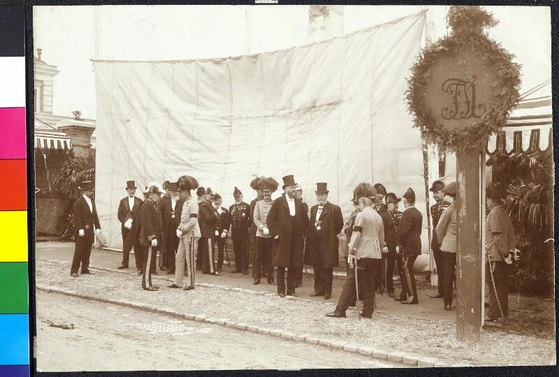 Schlußsteinlegung des Kaiser-Franz-Josef-Jubiläums-Kinderspital