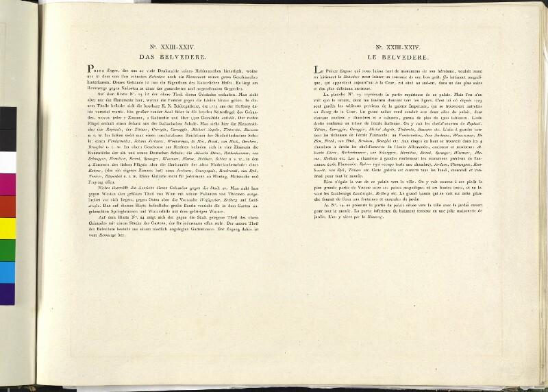 Wien: Belvedere: Oberes Belvedere, 1785 (Text).