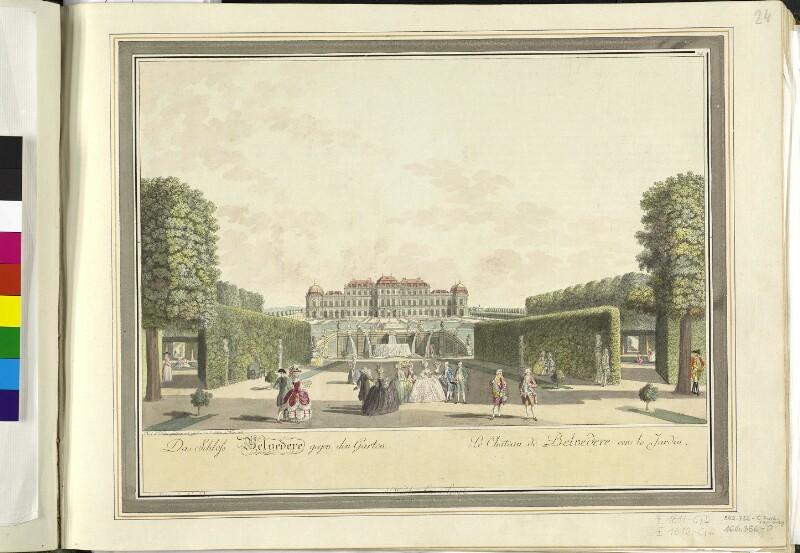 Wien: Belvedere: Oberes Belverede, 1785.