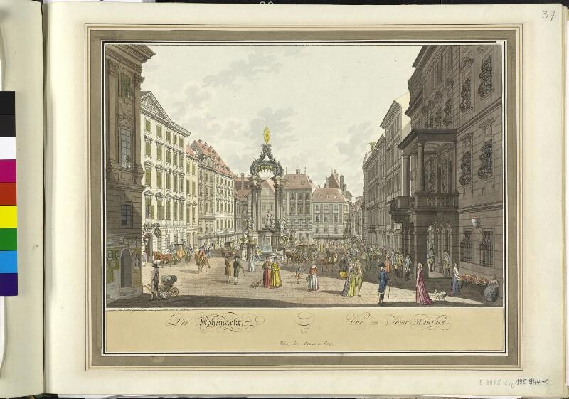 Wien 1., Hoher Markt, um 1790.