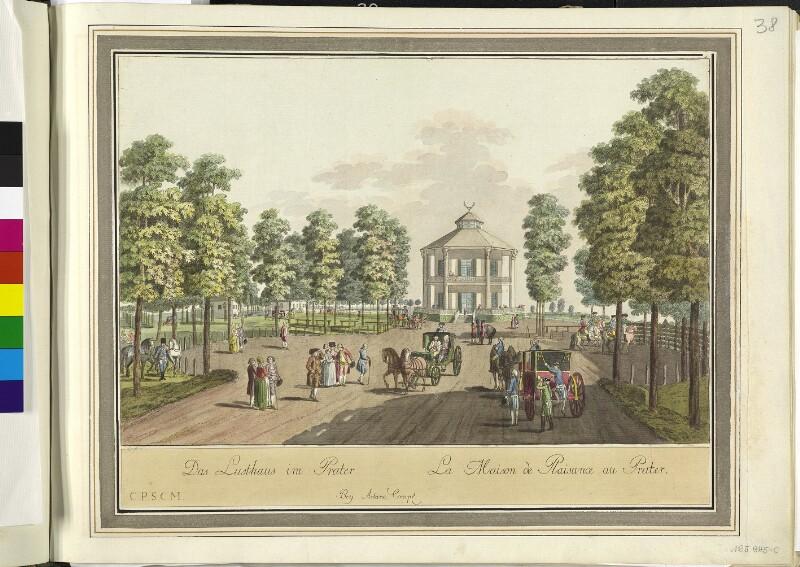 Wien 2., Prater, um 1783.