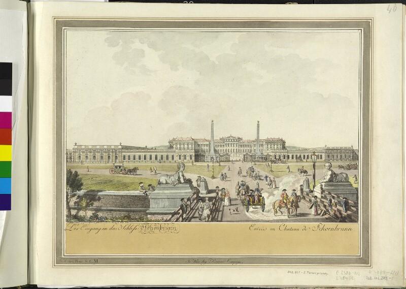 Wien: Schloss Schönbrunn, 1783.
