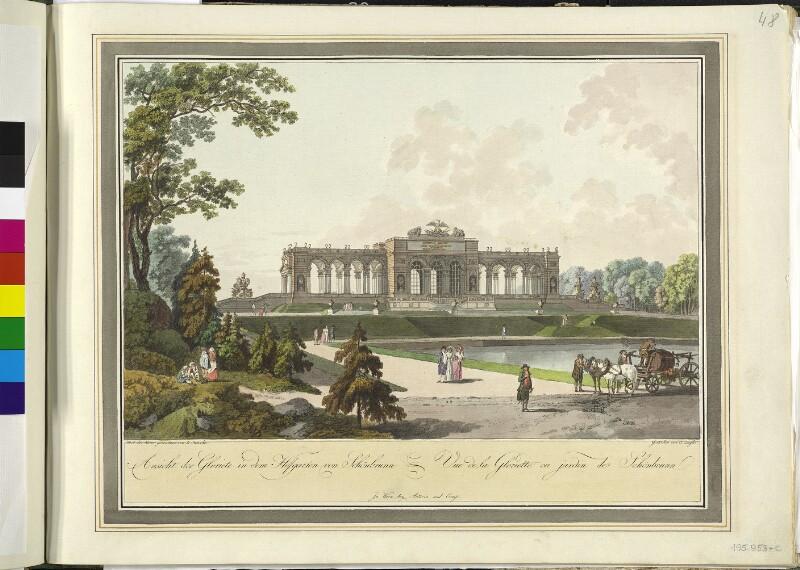 Wien: Schönbrunn: Gloriette, um 1792.