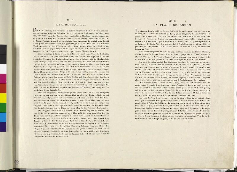 Wien 1., In der Burg: Hofburg, Reichskanzleitrakt, um 1792. (Text).