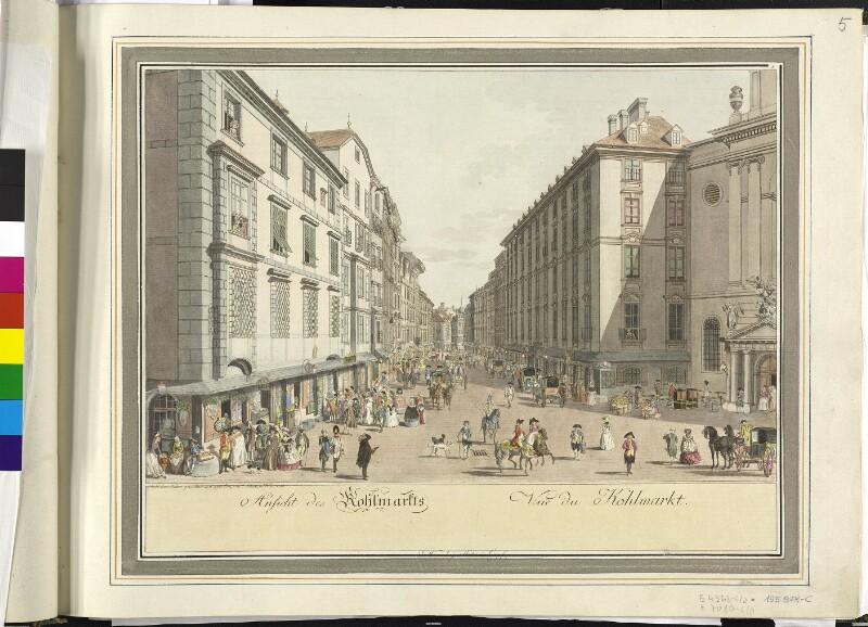 Wien 1., Kohlmarkt, 1786.
