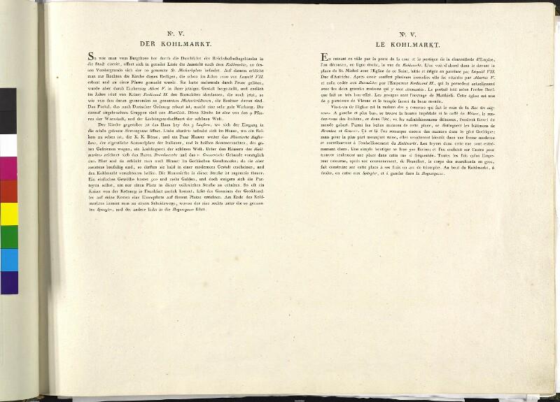 Wien 1., Kohlmarkt, 1786. (Text).