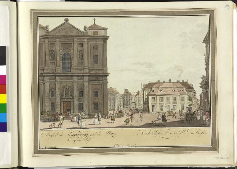 Wien 1., Freyung, 1790.