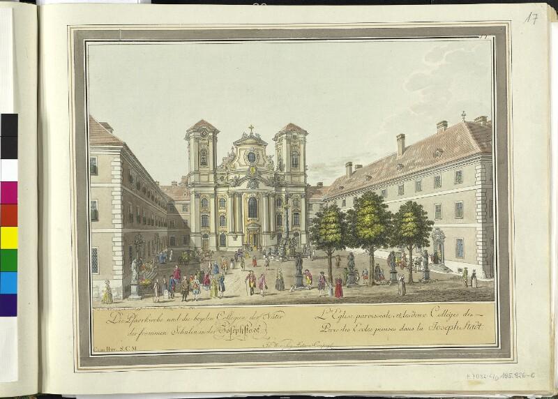 Wien: Piaristenkirche, 1780.