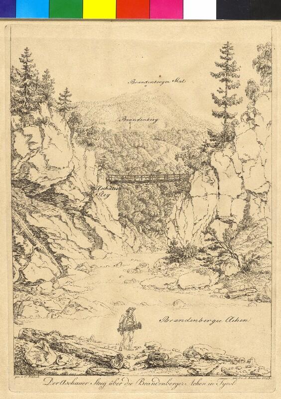Der Aschauer Steg über die Brandenberger Ache, Tirol