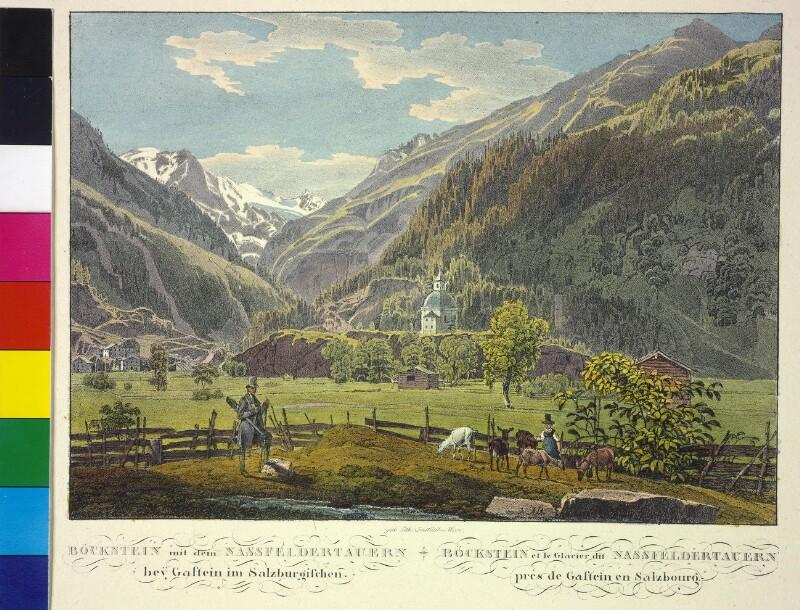 Böckstein bei Bad Gastein mit dem Nassfelder Tauern im Hintergrund