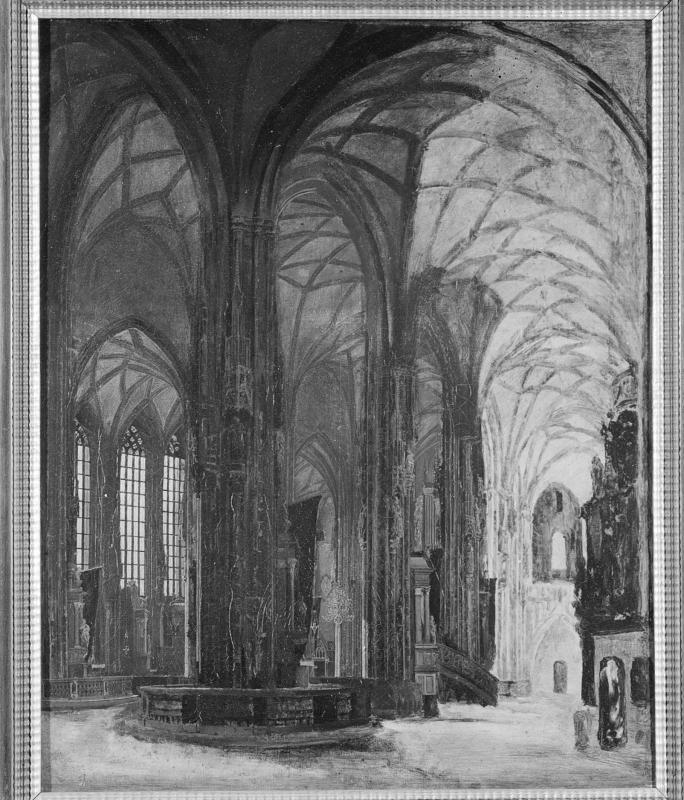 Rudolf von Alt, Das Innere der Stephanskirche