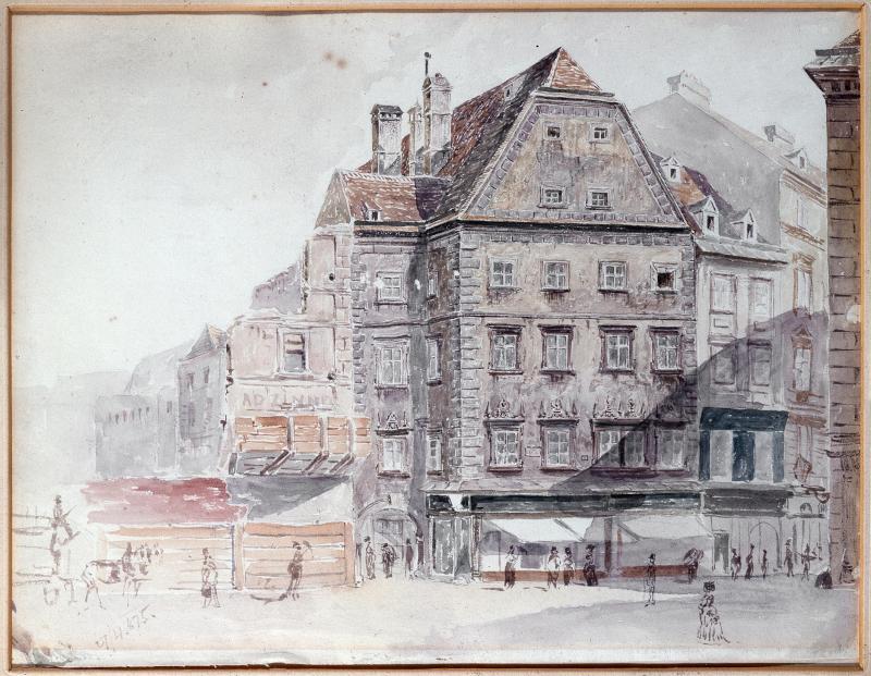 """""""Die alte Brandstätte im Jahre 1875"""""""