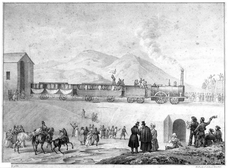 Erste Probefahrt eines Dampfwagenzuges in Österreich
