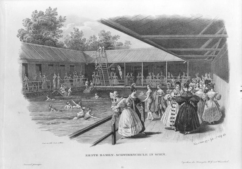 Erste Damen-Schwimmschule in Wien