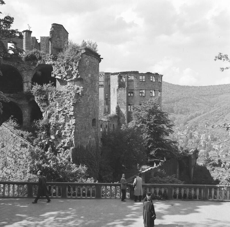 Die Heidelberger Schlossruine