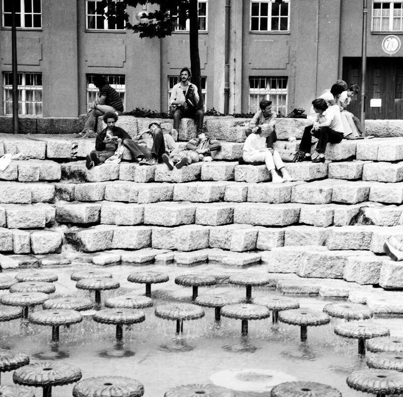 Der Domplatz Brunnen