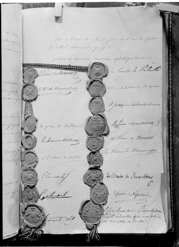 Vertragswerk des Wiener Kongresses