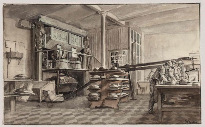 Bäckerei mit Dampfbetrieb