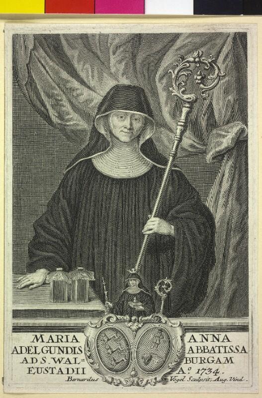 Maria Anna Adelgundis, Aebtissin zu St. Walpurga in Eichstätt