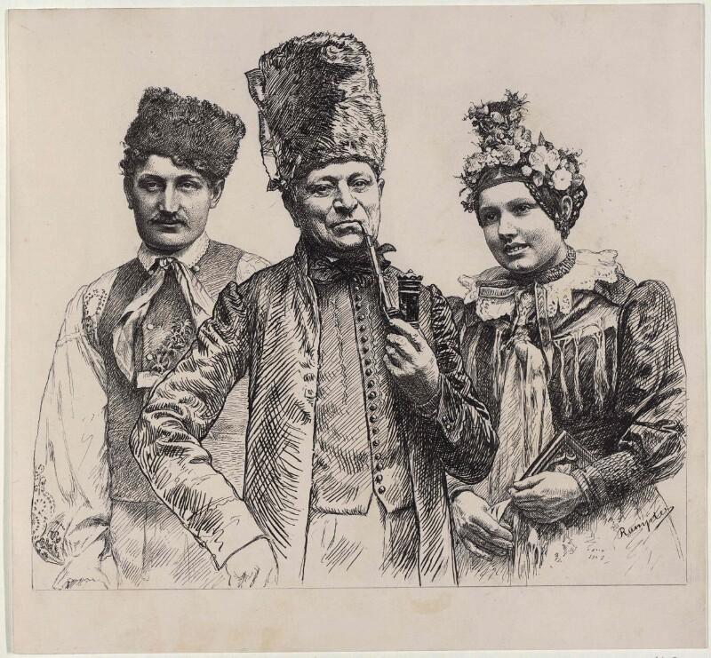 Zwei Männer und ein Mädchen aus Neuhaus in Böhemn