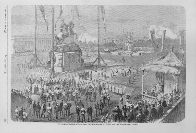 Enthüllungsfeier des Prinz-Eugen-Denkmals auf dem Heldenplatz