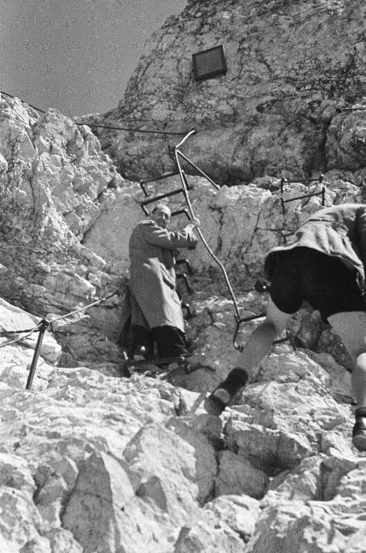 Aufstieg zur Zugspitze Berghütte