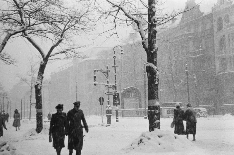 Kurfürstendamm im Winter