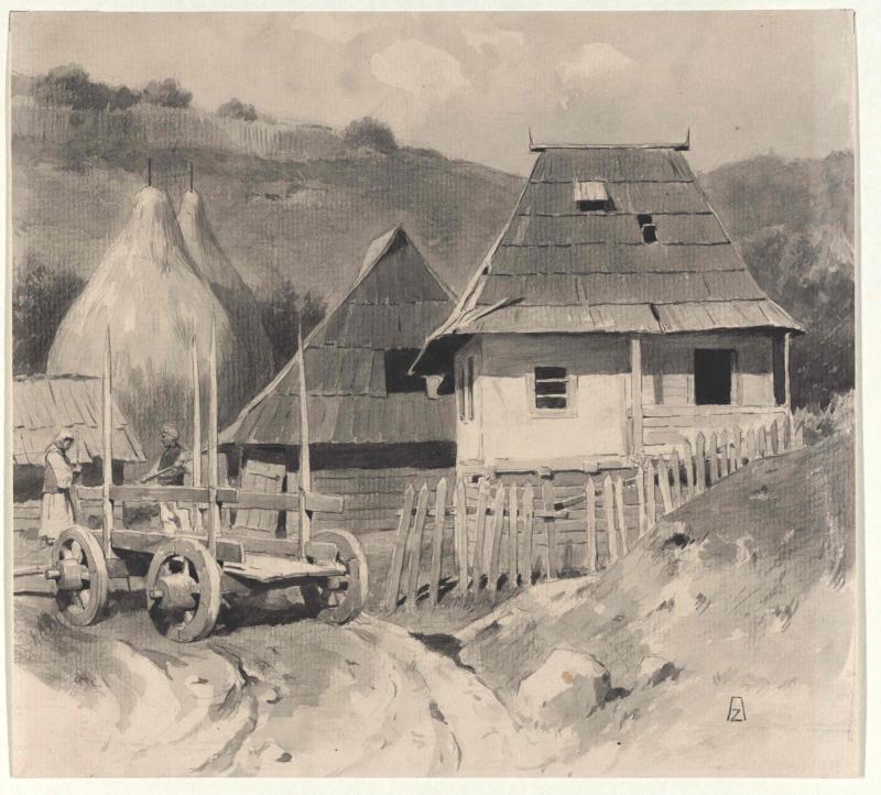Bauernhof einer Zadruga bei Dolnji Vakuf in Bosnien