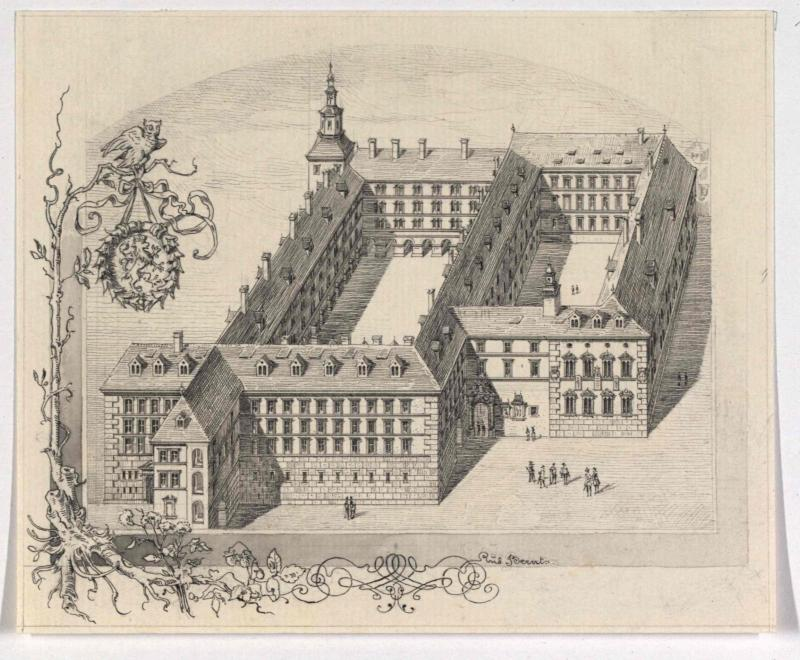 Graz - Jesuitenuniversität zu Ende des 17. Jahrhunderts