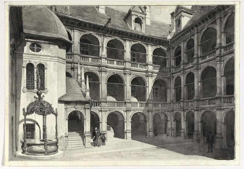 Hof des Landhauses in Graz