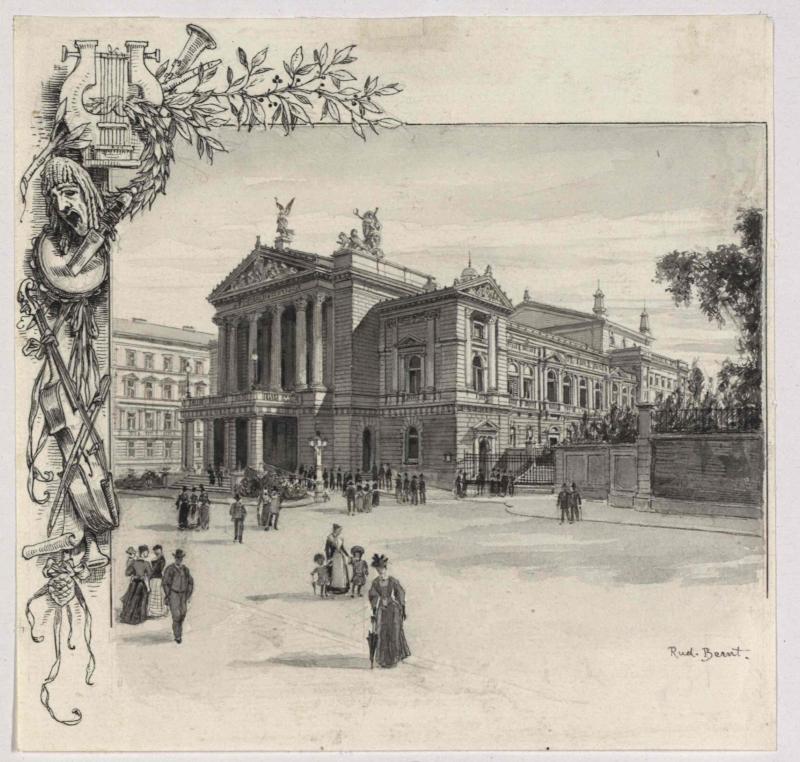 Das neue deutsche Theater in Prag