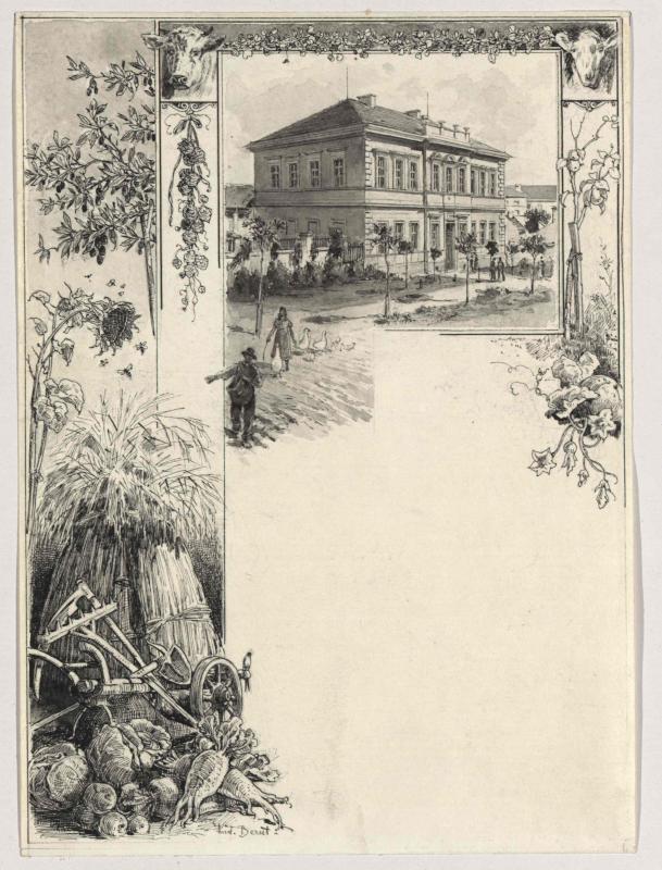 Die Ackerbauschule in Rakonitz (Rakovnik, Böhmen)