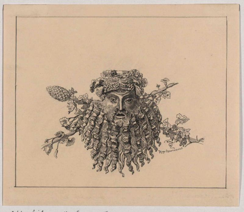 Maske eines Silen aus Bronze, bei Cilli (Celje) gefunden
