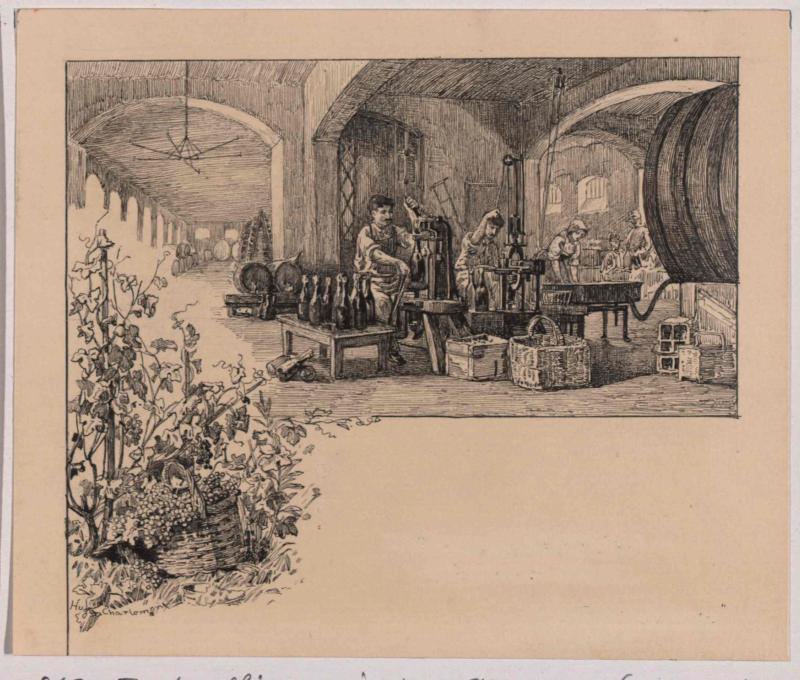 Champagnerkellerei in Gösting bei Graz, Flaschenfüllung
