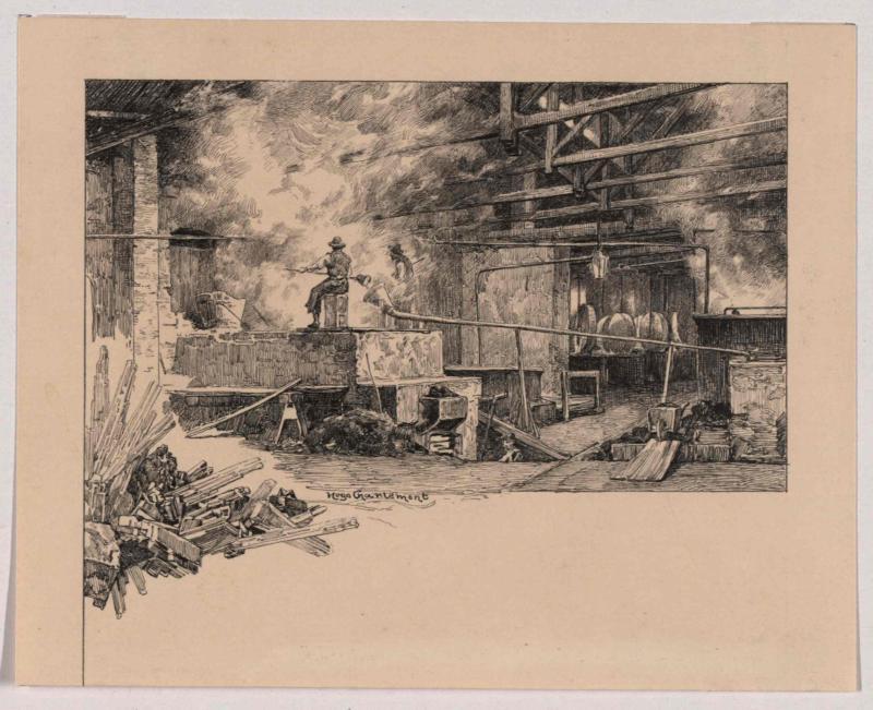 Fabrik für chromsaures Kali in Hrastnigg, Inneres