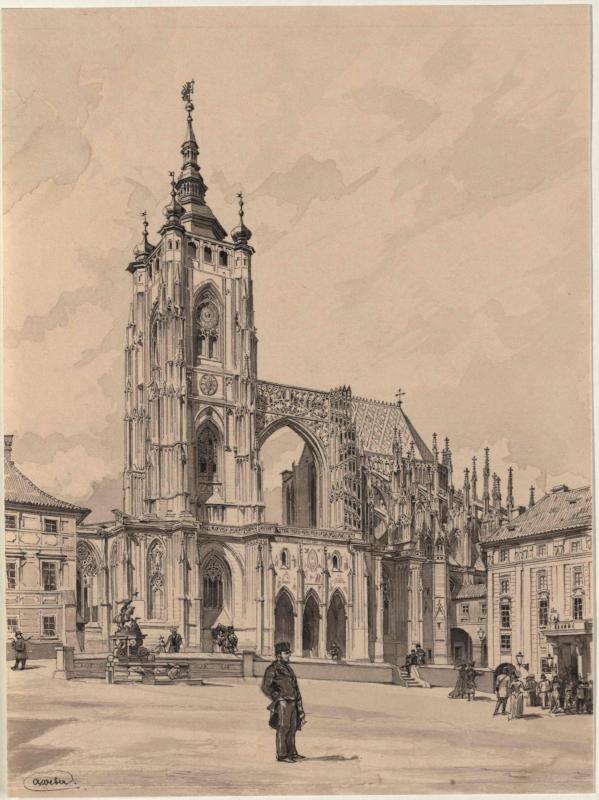 Die Südseite des Prager Doms