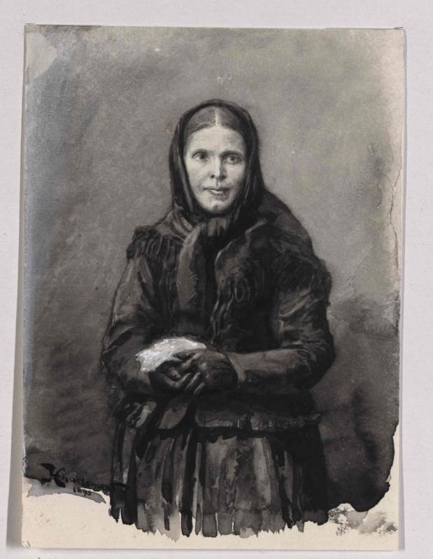 Deutsche Frau aus Engelsberg, Bezirk Dolina