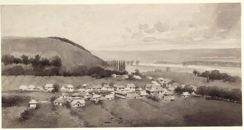 Die Podolische Platte mit Ansicht von Kutyska und Umgebung