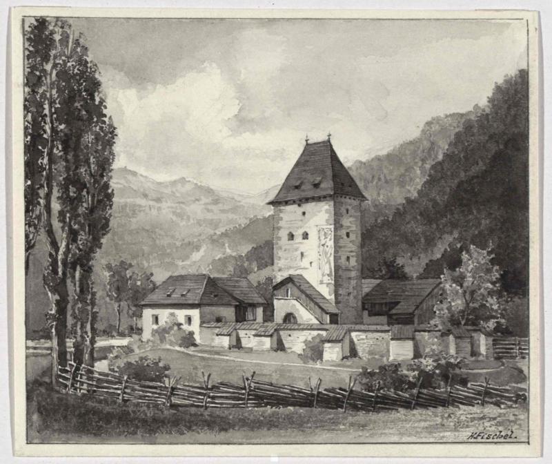 Burgturm aus dem 13. Jahrhundert in Baierdorf
