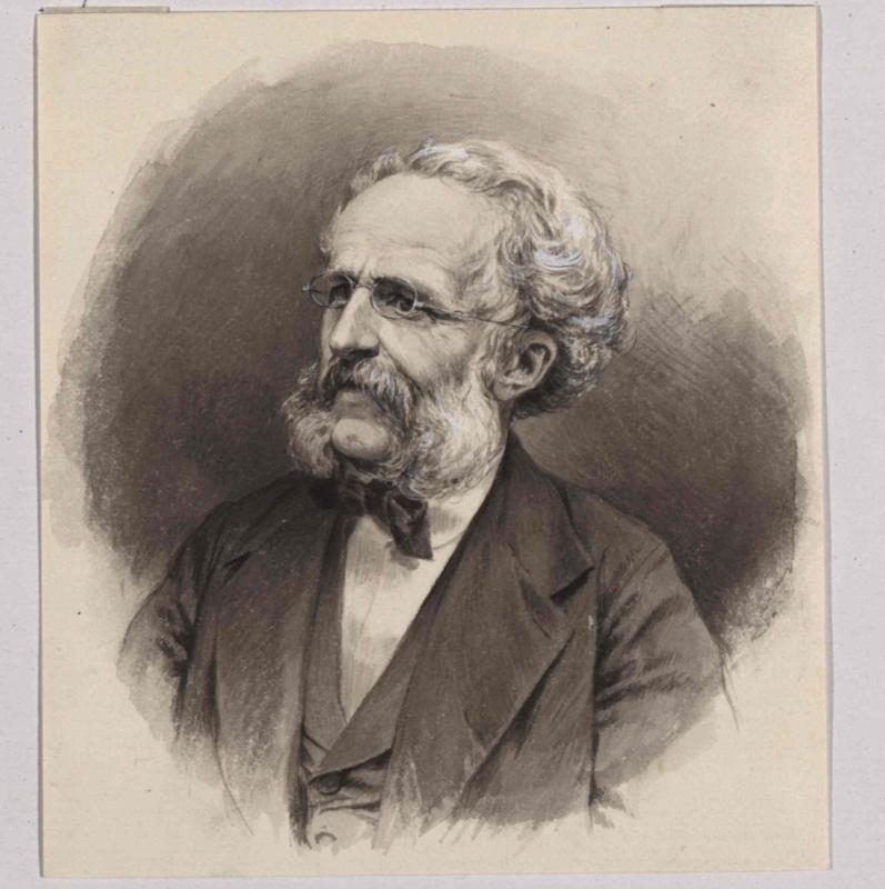 Pinselzeichnung von Wilhelm Hecht, entstanden vor 1896©Bildarchiv Austria, ÖNB