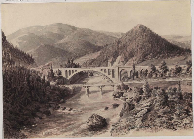 Brücke über den Pruth (Prut) bei Jaremcze (Jaremče)