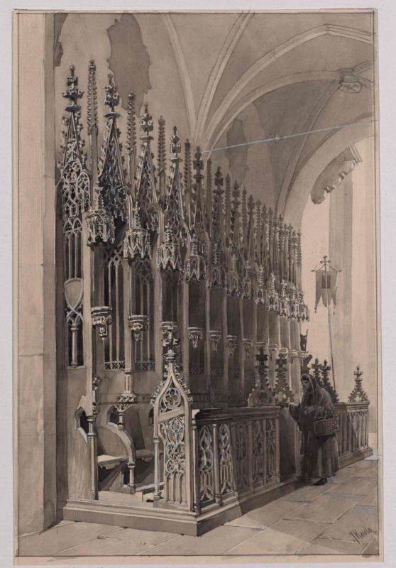 Chorgestühl in der Barbarakirche in Kuttenberg (Kutná Hora) aus dem 15. Jahrhundert